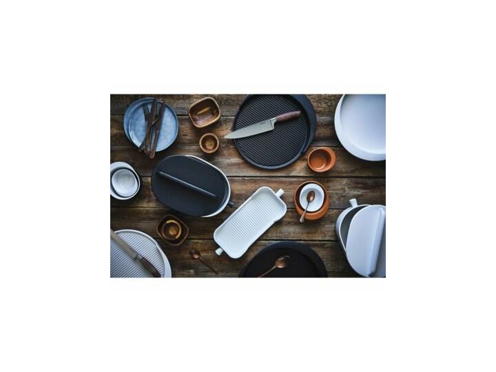 Forma do pieczenia okrągła DUKA HJALMAR 16x14 cm czarna kamionka Ceramika Naczynie do zapiekania Kolor Czarny Kategoria Naczynia do zapiekania