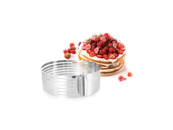 Obręcz do krojenia ciasta regulowana DUKA BASIC stal nierdzewna Kategoria Dekoracja wypieków Kolor Srebrny