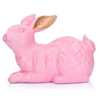 Figurka królik siedzący DUKA GODIS 11 cm różowa żywica