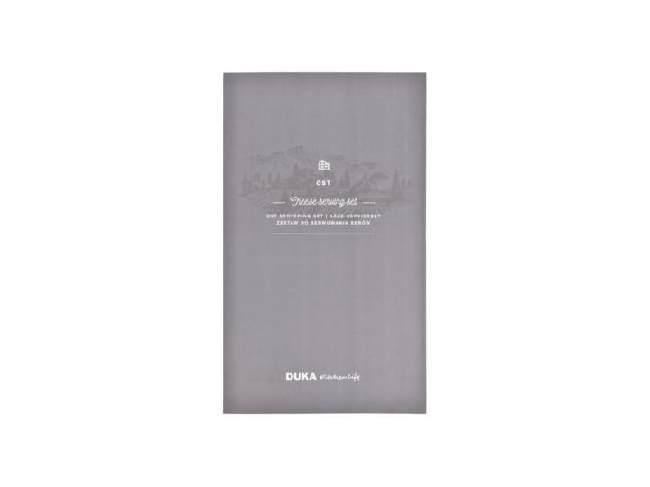 Zestaw do serwowania sera DUKA OST 2 elementy Kategoria Deski kuchenne Deska do serów Prostokątny Zestaw desek Kolor Czarny