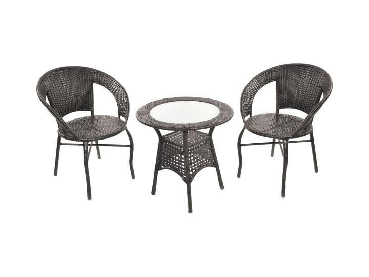 Gotowy zestaw mebli balkonowych Jumi Saturn Stoły z krzesłami Technorattan Liczba miejsc Dwuosobowy