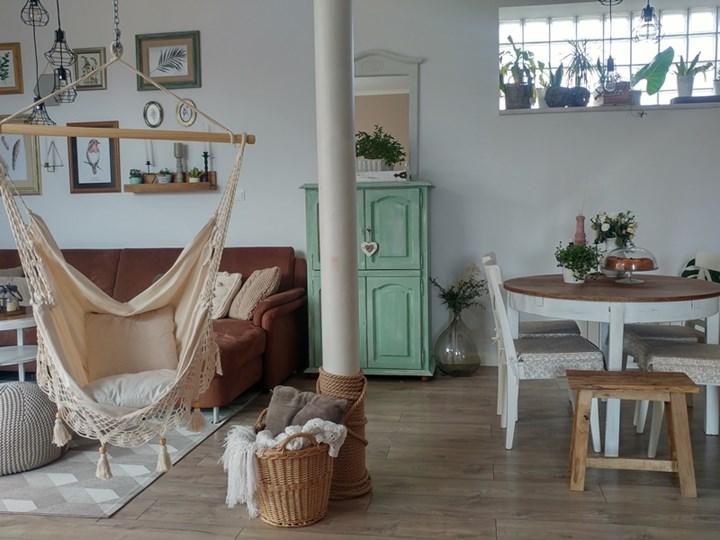 Fotel hamakowy boho, AHC-11 Drewno Kategoria Hamaki Bawełna Krzesło brazylijskie Kolor Szary