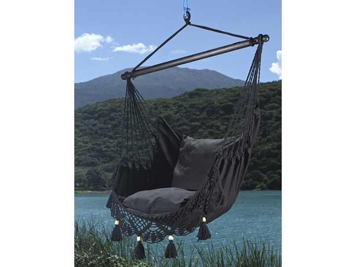 Fotel hamakowy boho, AHC-11 Krzesło brazylijskie Bawełna Drewno Kategoria Hamaki