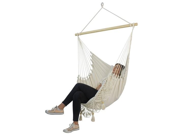 Fotel hamakowy boho, AHC-11 Krzesło brazylijskie Kategoria Hamaki Drewno Bawełna Kolor Szary