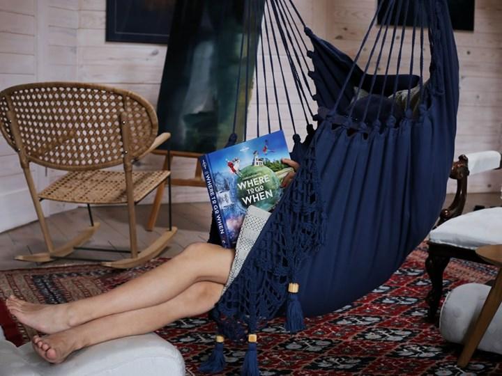 Fotel hamakowy boho, AHC-11 Bawełna Krzesło brazylijskie Drewno Kategoria Hamaki Kolor Szary