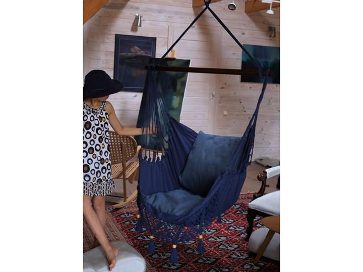 Fotel hamakowy boho, AHC-11 Drewno Krzesło brazylijskie Bawełna Kategoria Hamaki Kolor Szary