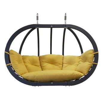 Fotel hamakowy drewniany podwójny, Swing Chair Double antracyt
