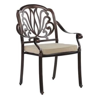 Beliani Zestaw 4 Krzeseł Ogrodowych Brązowy Ancona