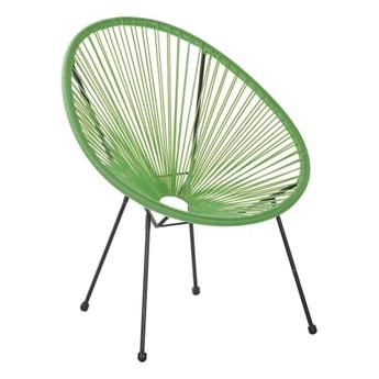 Beliani Krzesło Rattanowe Zielone Acapulco Ii