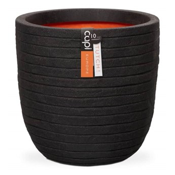 Capi Owalna donica Nature Row, 54x52 cm, czarna, KBLRO935