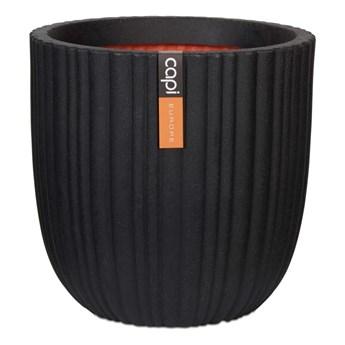 Capi Owalna donica Urban Tube, 35 x 34 cm, czarna, KBLT932
