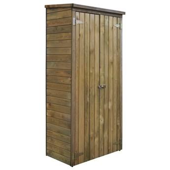 vidaXL Szopa na narzędzia, drewno sosnowe, 85 x 48 x 177 cm