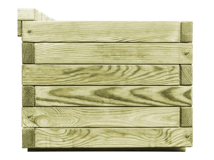 vidaXL Ławka ogrodowa z donicami, impregnowane drewno sosnowe Bez oparcia Kategoria Ławki ogrodowe