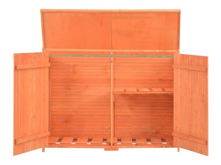 vidaXL Schowek ogrodowy, 120x50x91 cm, drewniany Domki narzędziowe Drewno Kategoria Domki ogrodowe Kolor Pomarańczowy