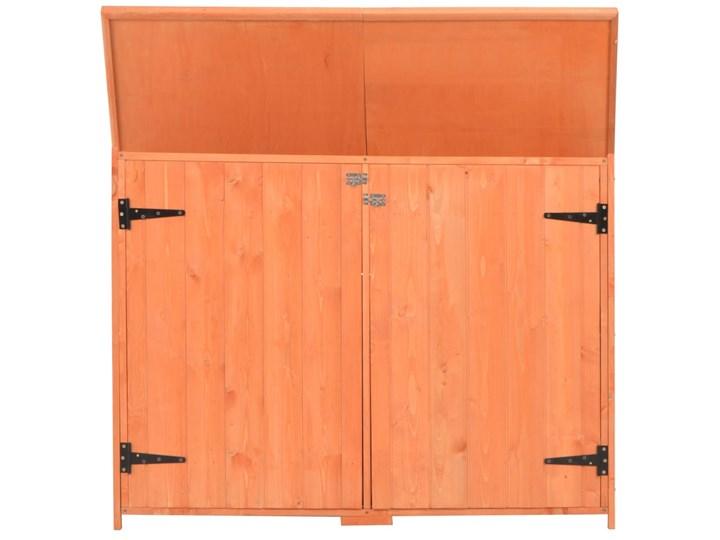 vidaXL Schowek ogrodowy, 120x50x91 cm, drewniany Kategoria Domki ogrodowe Drewno Domki narzędziowe Kolor Pomarańczowy