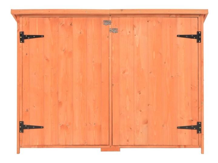 vidaXL Schowek ogrodowy, 120x50x91 cm, drewniany Domki narzędziowe Drewno Kategoria Domki ogrodowe