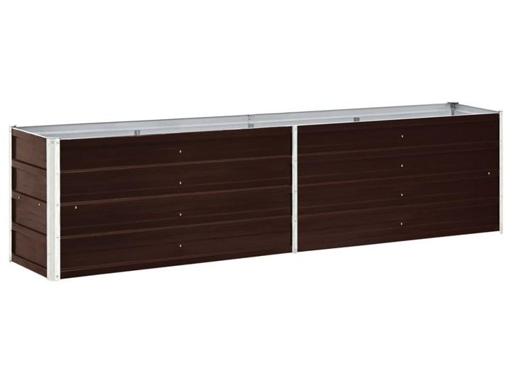 vidaXL Podwyższona donica z galwanizowanej stali 240x40x45 cm, brązowa Metal Donica balkonowa Donica ogrodowa Kolor Brązowy Kategoria Donice ogrodowe