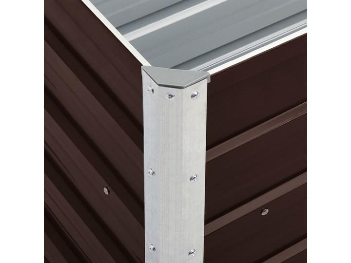 vidaXL Podwyższona donica z galwanizowanej stali 240x40x45 cm, brązowa Metal Donica balkonowa Kolor Brązowy Donica ogrodowa Kategoria Donice ogrodowe