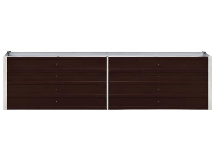 vidaXL Podwyższona donica z galwanizowanej stali 240x40x45 cm, brązowa Kolor Brązowy Donica ogrodowa Metal Donica balkonowa Kategoria Donice ogrodowe