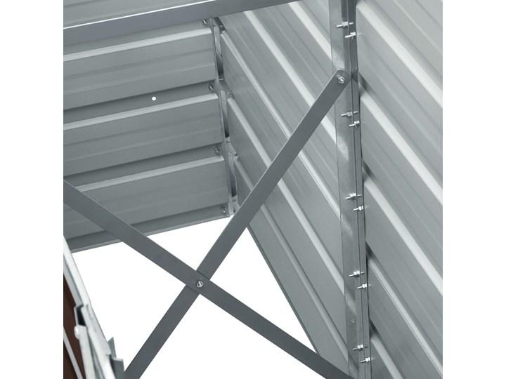 vidaXL Podwyższona donica z galwanizowanej stali 240x40x45 cm, brązowa Donica balkonowa Metal Donica ogrodowa Kolor Brązowy