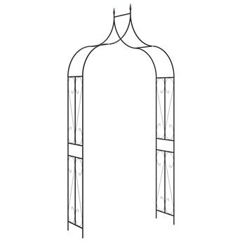 vidaXL Pergola ogrodowa, czarna, 120x38x258 cm, żelazna