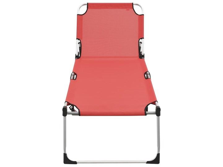 vidaXL Wysoki leżak dla seniora, składany, czerwony, aluminiowy Składane Aluminium Z regulowanym oparciem Kategoria Leżaki ogrodowe
