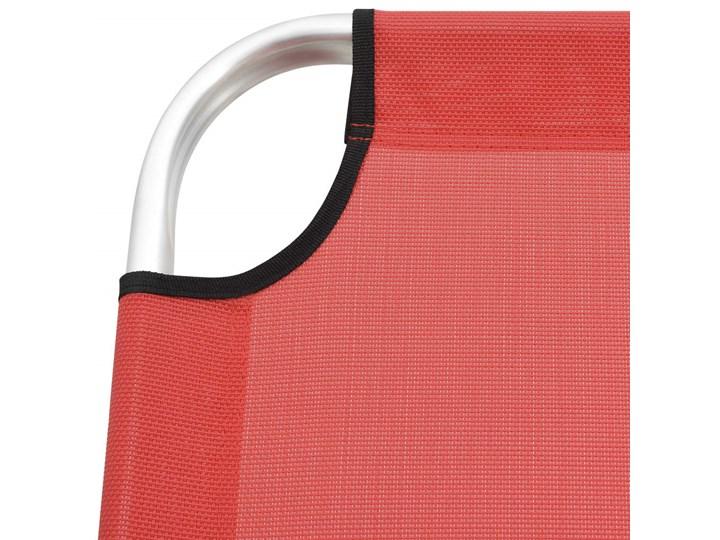 vidaXL Wysoki leżak dla seniora, składany, czerwony, aluminiowy Aluminium Z regulowanym oparciem Składane Kategoria Leżaki ogrodowe