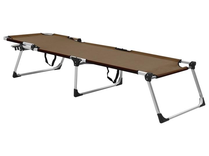 vidaXL Wysoki leżak dla seniora, składany, brązowy, aluminiowy Aluminium Z regulowanym oparciem Składane Kategoria Leżaki ogrodowe