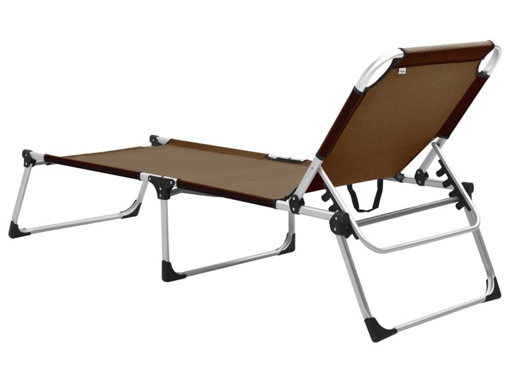 vidaXL Wysoki leżak dla seniora, składany, brązowy, aluminiowy Z regulowanym oparciem Składane Aluminium Kategoria Leżaki ogrodowe