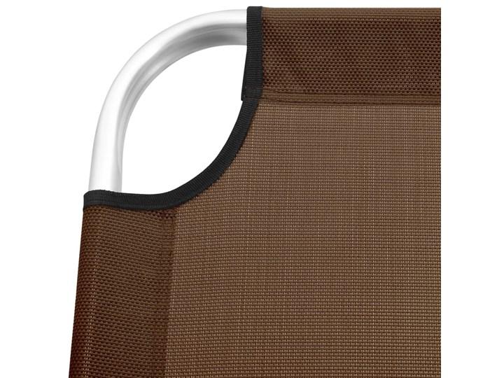 vidaXL Wysoki leżak dla seniora, składany, brązowy, aluminiowy Aluminium Składane Z regulowanym oparciem Kategoria Leżaki ogrodowe