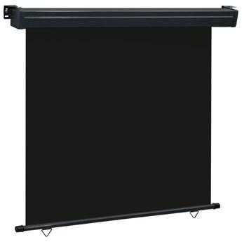 vidaXL Markiza boczna na balkon, 170 x 250 cm, czarna
