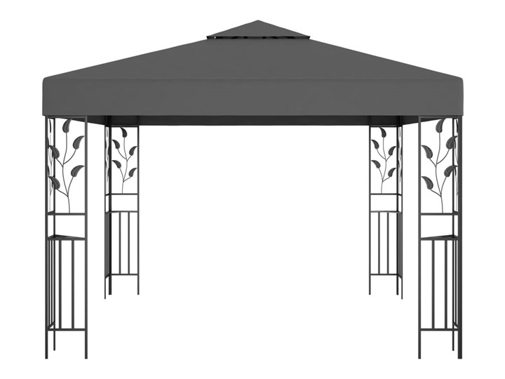 vidaXL Altana, 3 x 3 m, antracytowa Wysokość 250 cm Kolor Czarny