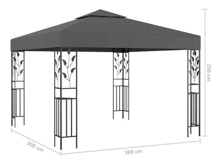 vidaXL Altana, 3 x 3 m, antracytowa Kolor Czarny Wysokość 250 cm Kategoria Altany ogrodowe