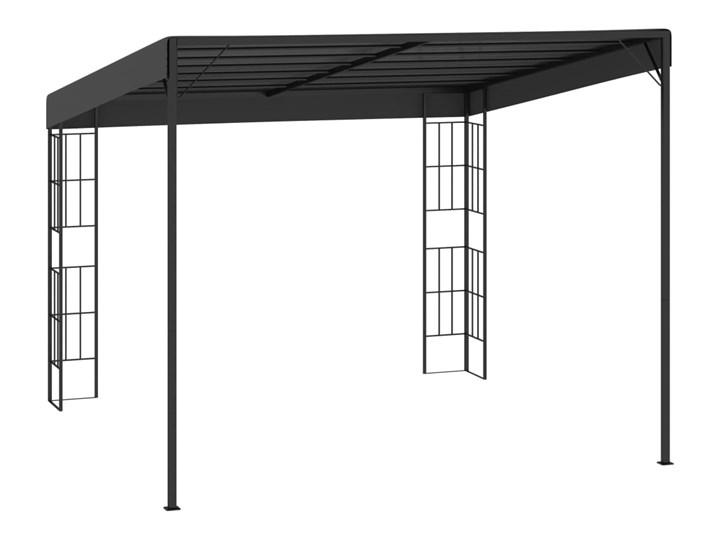 vidaXL Altana przyścienna, 3x3 m, antracytowa, tkanina Wysokość 250 cm Kolor Czarny