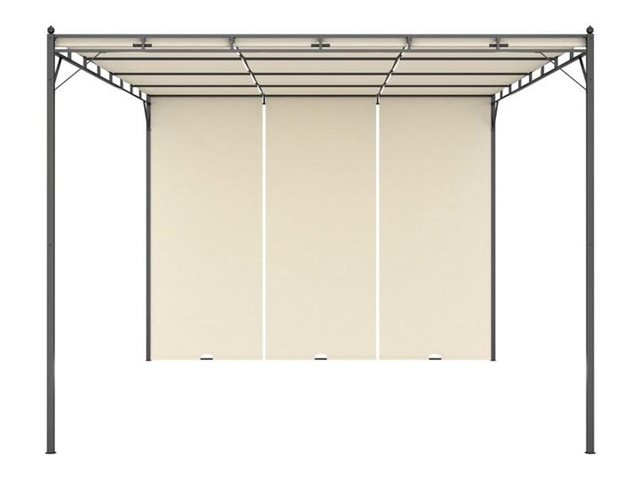 vidaXL Altana ogrodowa z zasłoną boczną, 4 x 3 x 2,25 m, kremowa Wysokość 225 cm Szerokość 3 m Kolor Beżowy Długość 4 m Kategoria Altany ogrodowe