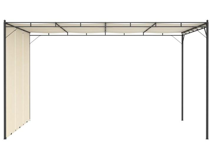vidaXL Altana ogrodowa z zasłoną boczną, 4 x 3 x 2,25 m, kremowa Szerokość 3 m Długość 4 m Wysokość 225 cm Kolor Beżowy Kategoria Altany ogrodowe