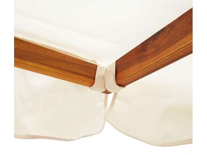vidaXL Ogrodowa huśtawka z zadaszeniem, lite drewno akacjowe Materiał stelaża Metal Kategoria Huśtawki ogrodowe