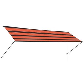 vidaXL Zwijana markiza z LED, 300x150 cm, pomarańczowo-brązowa