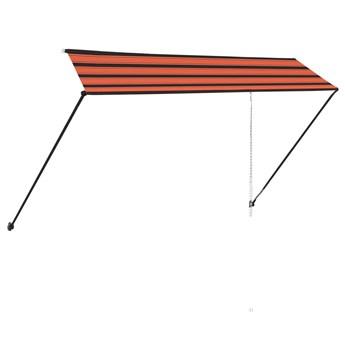 vidaXL Zwijana markiza z LED, 350x150 cm, pomarańczowo-brązowa