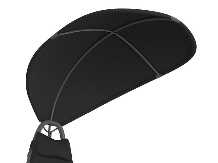 vidaXL Huśtawka ogrodowa, czarna, 160x80x195 cm, tkanina Kolor Czarny Kategoria Leżaki ogrodowe