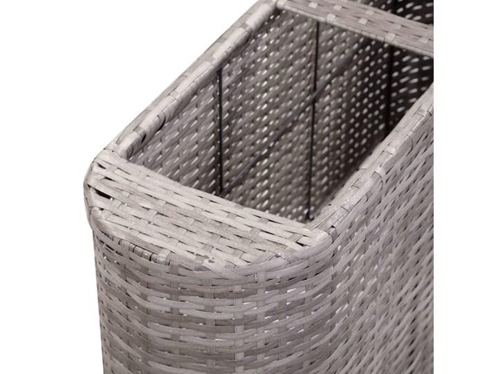 vidaXL Podwyższona donica ogrodowa, 120x24x40 cm, polirattan, szara Owalny Kategoria Donice ogrodowe Donica balkonowa Kolor Szary