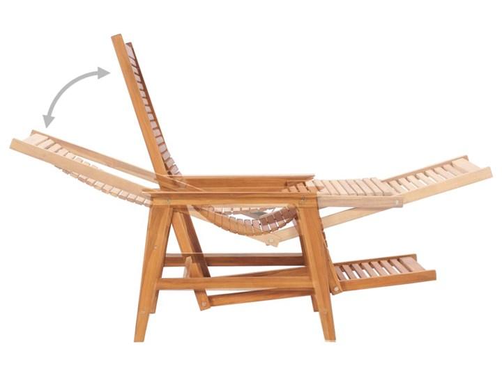 vidaXL Ogrodowe krzesło wypoczynkowe z podnóżkiem, lite drewno tekowe Kategoria Leżaki ogrodowe Kolor Brązowy
