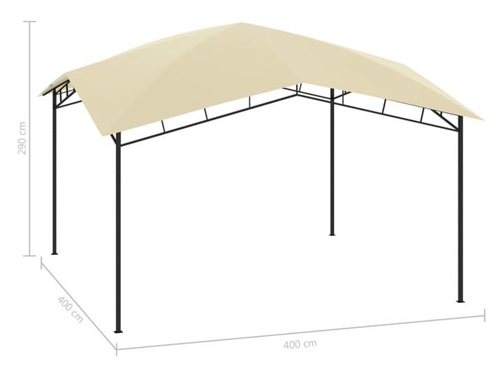 vidaXL Altana ogrodowa, 4x4x2,9 m, kremowa, 180 g/m² Kolor Beżowy Szerokość 4 m Wysokość 290 cm Długość 4 m Kategoria Altany ogrodowe