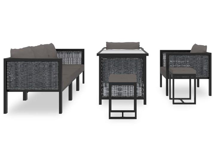 vidaXL 8-cz. zestaw wypoczynkowy do ogrodu, poduszki, rattan PE Zawartość zestawu Sofa Zestawy wypoczynkowe Zestawy modułowe Technorattan Aluminium Tworzywo sztuczne Zawartość zestawu Stół