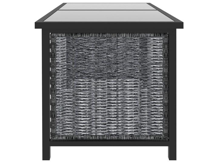 vidaXL 8-cz. zestaw wypoczynkowy do ogrodu, poduszki, rattan PE Kolor Czarny Zestawy wypoczynkowe Tworzywo sztuczne Zestawy modułowe Aluminium Technorattan Kategoria Zestawy mebli ogrodowych