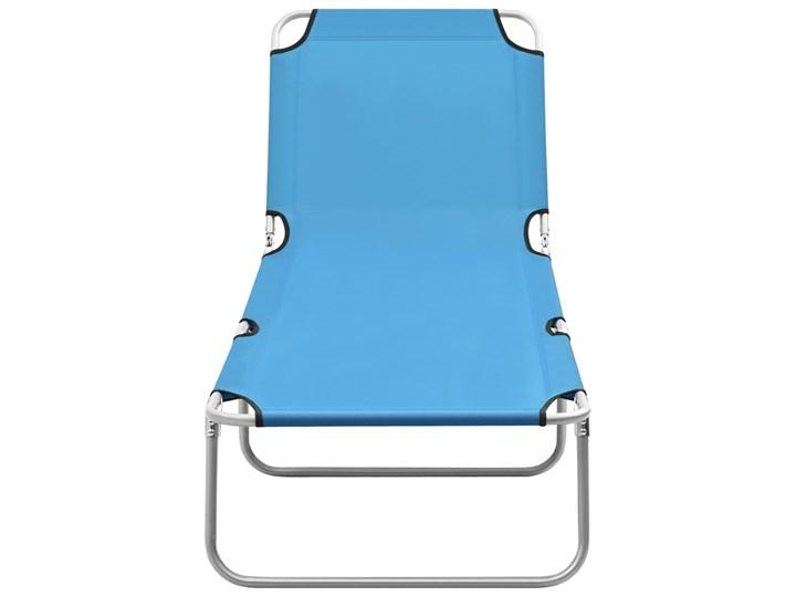 vidaXL Składany leżak, stal i tkanina, turkusowoniebieski Metal Leżanki Składane Z regulowanym oparciem Kategoria Leżaki ogrodowe