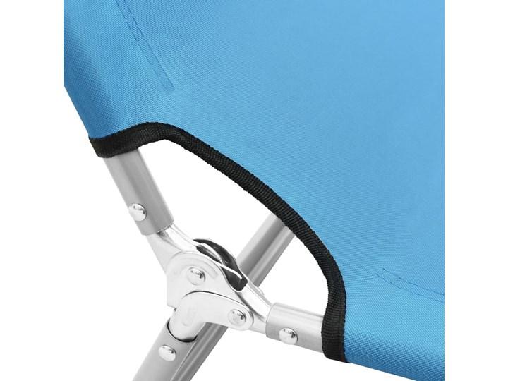 vidaXL Składany leżak, stal i tkanina, turkusowoniebieski Metal Składane Leżanki Z regulowanym oparciem Kategoria Leżaki ogrodowe