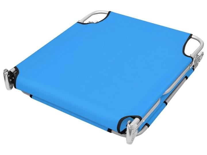 vidaXL Składany leżak z podgłówkiem, stal, turkusowy Metal Z regulowanym oparciem Składane Kategoria Leżaki ogrodowe Kolor