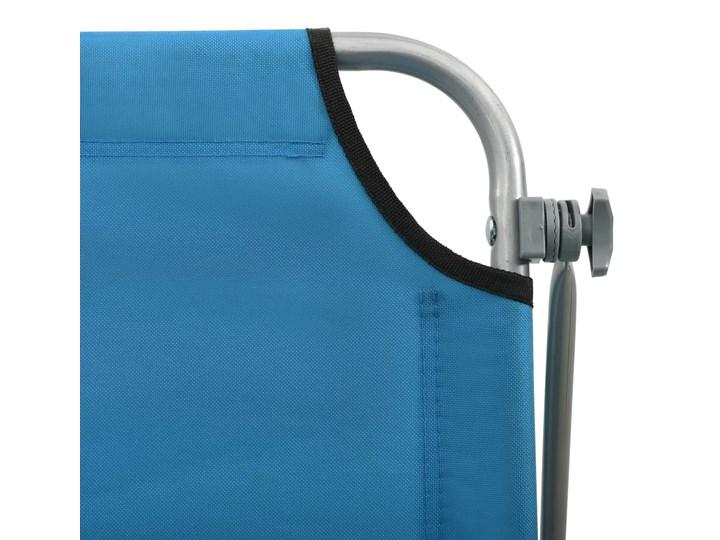 vidaXL Leżak z daszkiem, stalowy, niebieski Metal Składane Z regulowanym oparciem Kategoria Leżaki ogrodowe