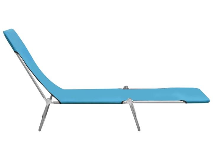 vidaXL Składane leżaki, 2 szt., stal i tkanina, niebieskie Z regulowanym oparciem Metal Kategoria Leżaki ogrodowe